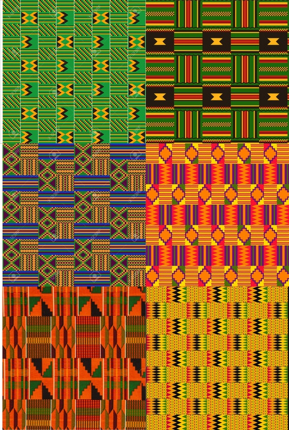 Kente African Print Digital Paper/12 x 12 JPEG Kente Digital Files/African Print Digital Files/Instant Download Files/Sublimation Patterns