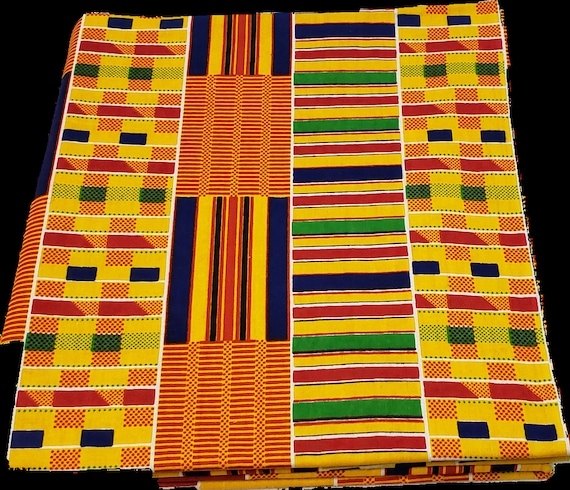 Kente print unisex Stole/sash/black history/African kente print  stole/kente stole/BLM Stole/Orange Brown Kente/Green Yellow Kente Stole