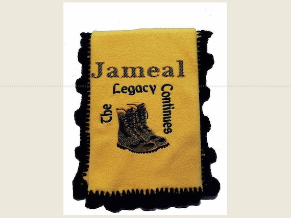 Future ALPHA PHI ALPHA  Fleece Blanket with Crochet Edge