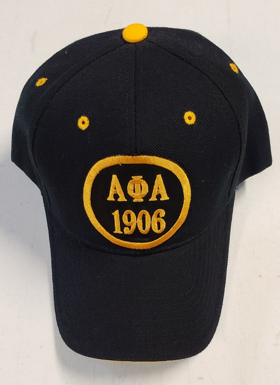 ALPHA PHI ALPHA Black Cap Greek Letters/1906 Embroidered Satin Patch/ Alpha Phi Alpha Greek Letters 1906 Satin Patch