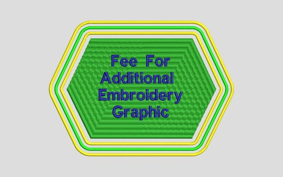 EMBROIDERED GRAPHIC FEE