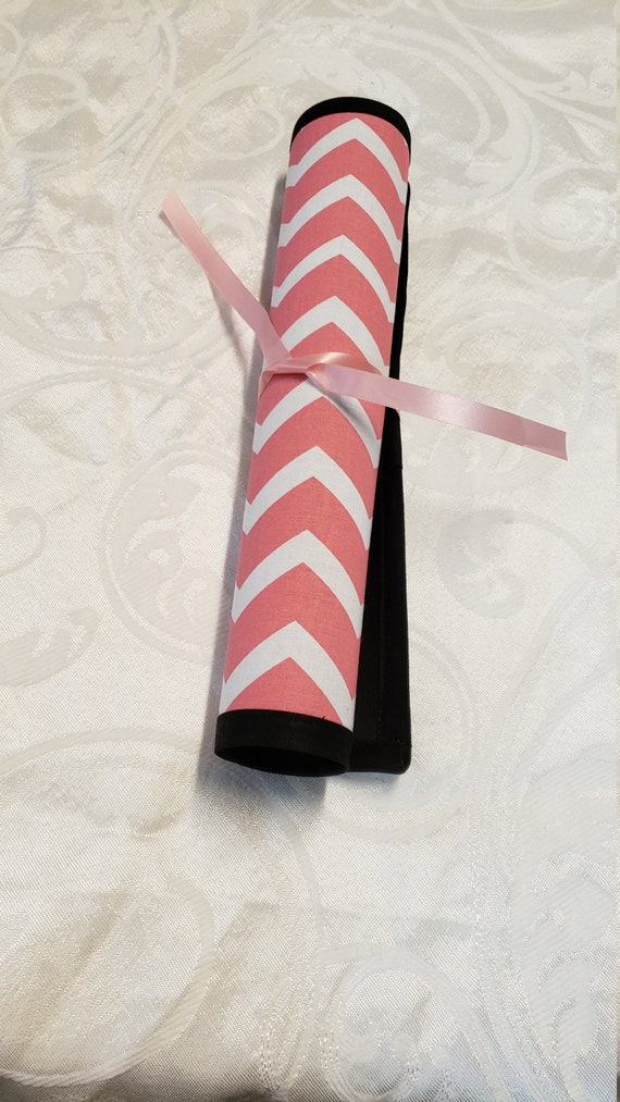 Pink & White Chevron Cotton Print/Portable Roll up Chalk Board, Blackboard Drawing Mat/Children's Drawing Pad/Stocking Stuffer/Party Favor