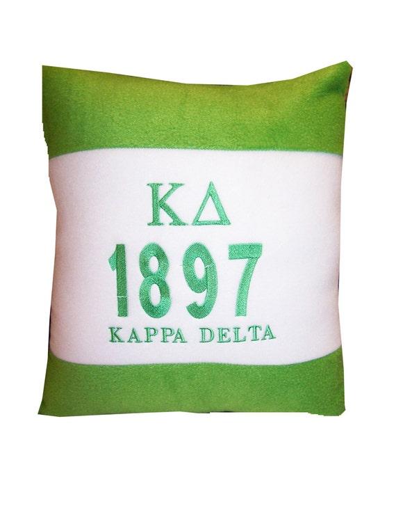 "KAPPA DELTA  Embroidered Fleece 14"" Pillow"