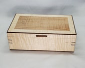 Handcrafted wooden jewelry box, men's valet, necklace box