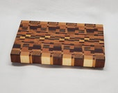 End grain cutting board, Chopping block, Wedding gift