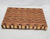 End grain cutting board,  House warming gift, Butcher block