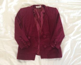 dark red burgundy Paris DIOR S (36-38) vintage jacket