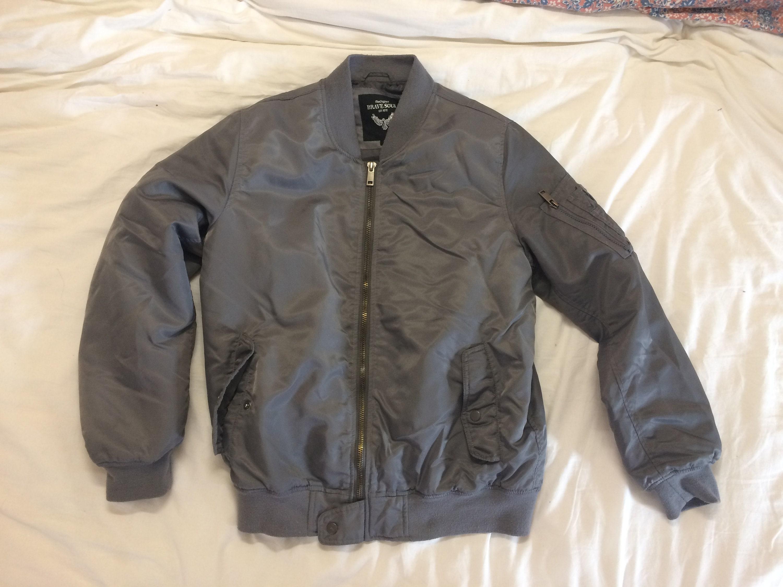 22305c119646 veste manteau taille bomber gris belle matière taille manteau 38(-40 ...