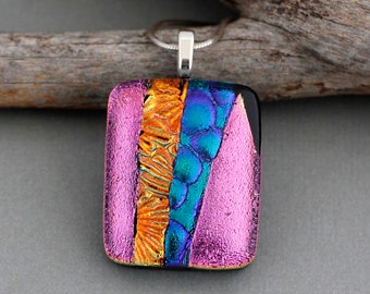 Fused Glass Pendant - Statement Necklace For Women - Unique Gifts For Women