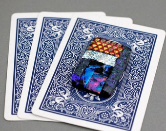 Poker Card Guard - Card Protector Poker - Poker Player Gifts - Dichroic Glass Poker Card Protector - Gift for Card Player - Card Cover