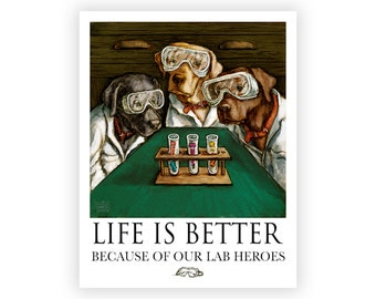 Heroes in the Lab- Life is Better with our Lab Heroes