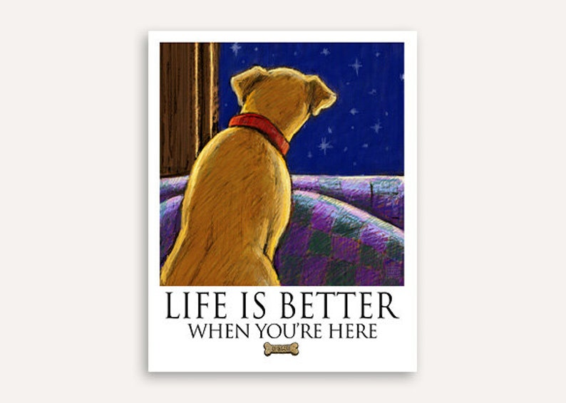 Missing you Life Is Better print with FREE customer phrase of image 0