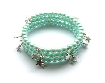 Reach for the Stars Bracelet in Mint