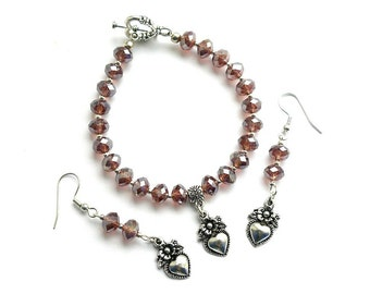 Heart of my Heart Bracelet and Earring Set
