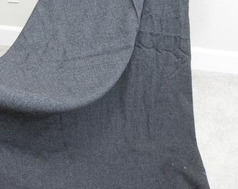 Dark Gay Worsted Wool Yardage Hardithorn 3+ yards 115x62