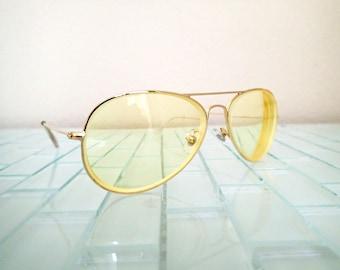 1cf1699cf9b Gold Wire Aviator Sunglasses - Premier 1970s Aviators - Excellent Quality
