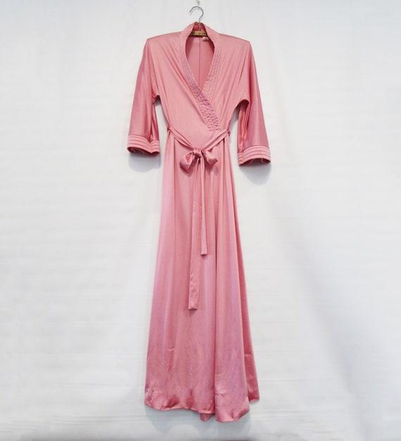 Pink Satin Robe Small - Vanity Fair - Old Hollywoo