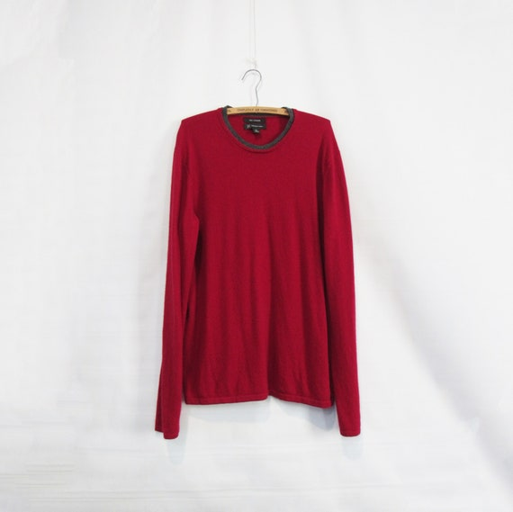 Red Cashmere Sweater XL - 100% Cashmere