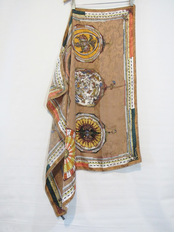 Silk Astrology Scarf Italy - Big Silk Zodiac Scarf