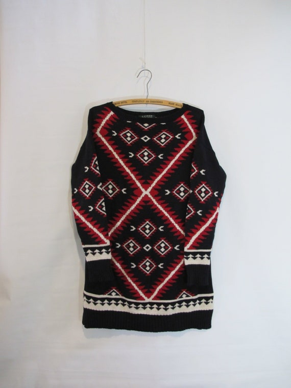 Ralph Lauren Navajo Tunic Sweater Small - Native A