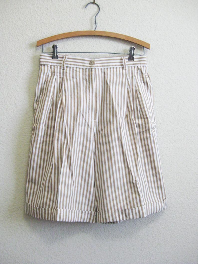 2fa182b214e52 GUCCI Linen Cotton Striped Shorts ITALY 44 Medium - Gucci Long Beige Shorts