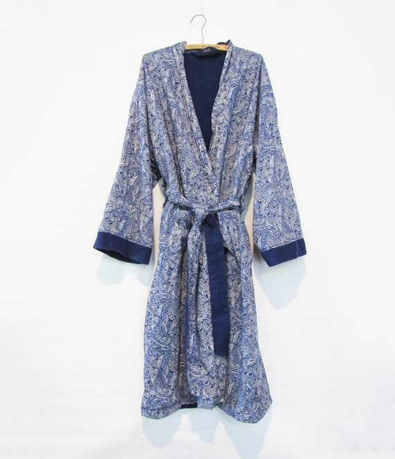 Blue Paisley Terry Robe IZOD - One Size - Ultra de