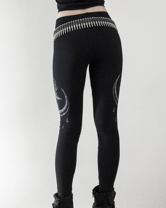 FERAL SACRAMENT Women/'s Black Leggings