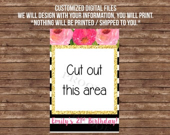 Photo Booth frame DIGITAL FILE Selfie station, bridal shower, birthday party, graduation, retirement, photo prop, decoration kate collection