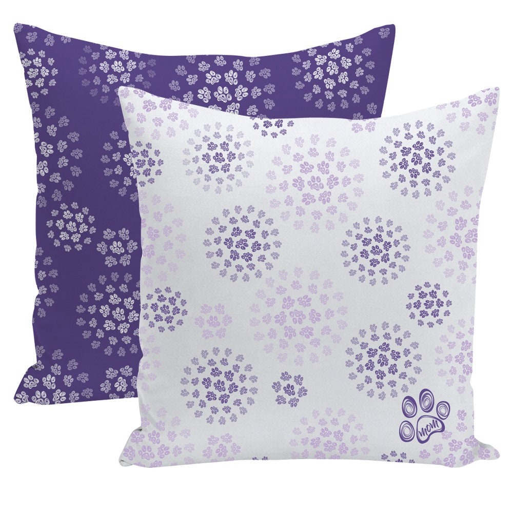 Paw Print Pillow Mothers Day Gift Gift For Dog Mom Decorative Pillow