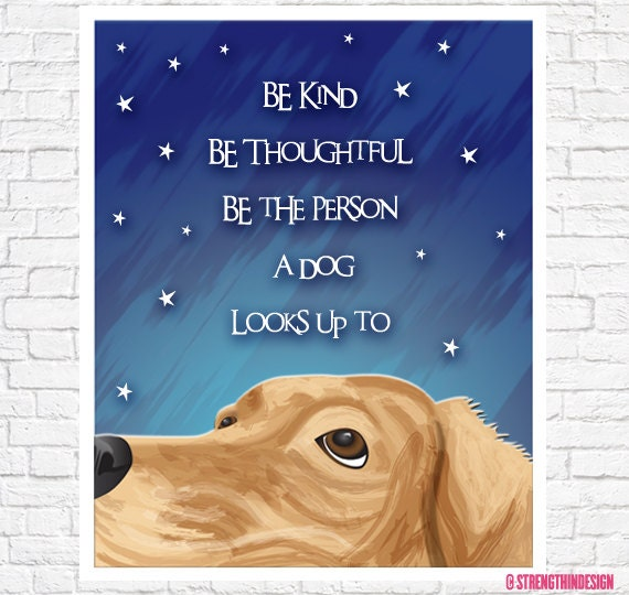golden retriever art gift for dog lover dog sayings wall art be