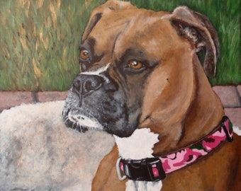 "16""x16"" Custom Painting of YOUR pet on a wood panel"