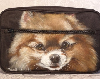 Custom Mens Custom Painted Dopp Kit with your pet's image