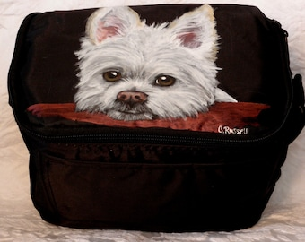 Custom Painted Cooler with YOUR Pet's Portrait