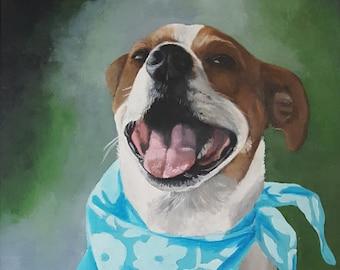 "12""x16"" Custom Acrylic Painting of YOUR pet"
