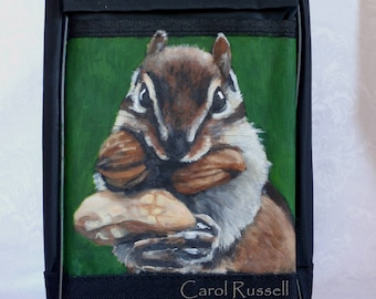 Insulated Tall Lunch Bag Painted Portrait of 'Marty'