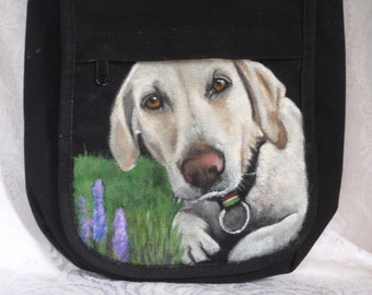 Custom Kicker Crossbody Bag - Hand painted portrait of your pet on this purse
