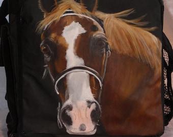 Custom Tall Kooler Hand Painted Portrait of YOUR Pet