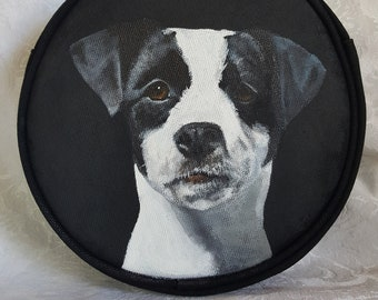 Custom Crossbody Round Purse Hand Painted with YOUR Pet's portrait