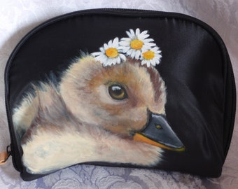 Hand Painted Portrait of YOUR Pet on this Cosmetic Bag Travel Makeup Bag