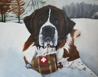"16""x20"" Custom Painting of YOUR pet"