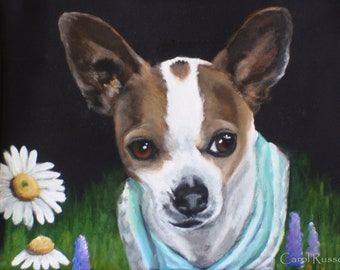YOUR Pet's Portrait Hand Painted on a Cosmetic Pouch