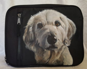 Custom painted Freezable Lunch Box with YOUR pet's portrait