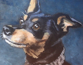 "8""x8"" Custom Painting of YOUR pet"