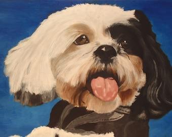 "Custom Painitng of YOUR pet 12""x9"" Painted Portrait"