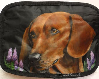 Custom Hand Painted on a Cosmetic Bag with YOUR Pet's Portrait