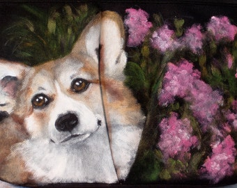 Hand painted Freezable Traveler Lunch Bag of 'Tony' a Corgi