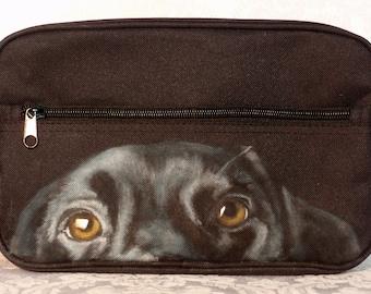 Custom Mens Custom Painted Dopp Kit with your pet's image