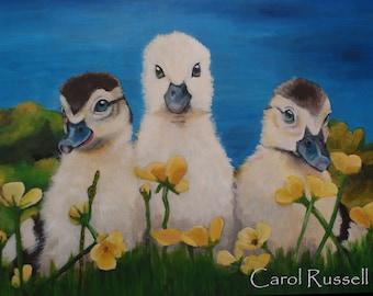 "SALE Original Painting 16""x20"" 'Charlie's Angels'"