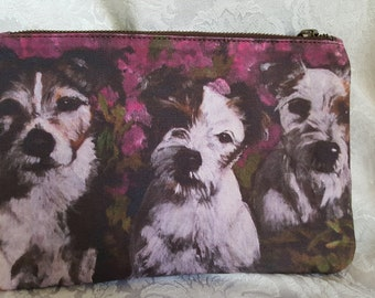Carry All Pouch Printed with 'The Jacks', Jack Russells