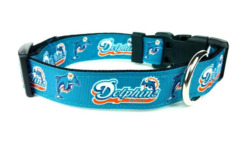 b843f1780 Miami Dolphins Dog Collar